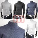 Großhandel Pullover & Sweatshirts: Rollkragen Pullover Oberteile Man Shirts