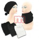 Großhandel Tücher & Schals: Damen Herbst Winter 2 in 1 Strick Mütze Schal