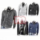 Großhandel Shirts & Tops: Herren Pullover Langarm Zipper Hoodie Gr. M-XXXL