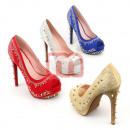 grossiste Vetement et accessoires: Escarpins Femmes  Talons Chaussures Glitter Optics