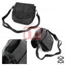 Damen Echt Leder Handtasche Bag in schwarz