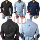 wholesale Shirts & Blouses: Men Leisure Business Shirts Long Sleeve Tops