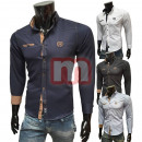 Men Leisure Business Shirts Long Sleeve Tops