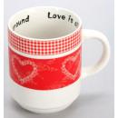 Porcelain cup /  heart size 9,3x7,4 cm