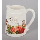 Milk Jug - Ceramic Rose, size 15x9 cm