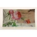 Glasteller/Rose, 26 x 14,5 cm