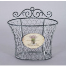 Basket - Lavender  of wire, size 18x18x11 cm