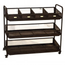 TROLLEY WITH  WHEELS IN ME RACKS AND SHELVES