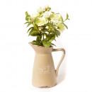 grossiste Pots de fleurs & Vases: BROC CERAMIQUE  AVEC MINI ROSES BLANCHES