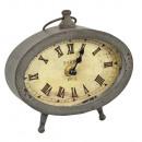 grossiste Horloges & Reveils: PENDULE REVEIL EN METAL GRIS