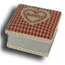 wholesale Organisers & Storage: BOX SQUARE ZINC  AND COVER  HAPPINESS