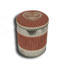 groothandel Opbergen & bewaren: Box ronde van het  zink met deksel  GELUK  IN VI