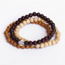 Perline di legno  Bracciali - Combi - Swarovski