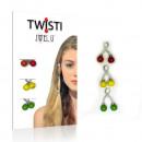 JwelU Twisti  Czerwony Żółty Zielony
