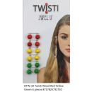 wholesale Hair Accessories: JwelU Twisti Red Yellow Green