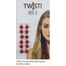 wholesale Hair Accessories:JwelU Twisti - Red