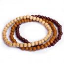 JwelU - Perles en  bois Bracelets - Combi