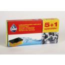 groothandel Reinigingsproducten: Mr. Cleaner  spons-voet, vijf-gevormde + 1d