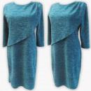 D4004 Dress, Made In Poland, 44-52, Morski