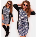 4409 Pencil Dress, Slim Plus Size, Zebra pattern