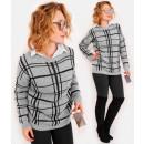 wholesale Pullover & Sweatshirts: A894 Elegant Women Sweater, Wide grid Pattern