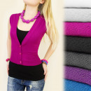 wholesale Coats & Jackets: C11158 SWEATER VEST, BOLERKA, V-DECOR