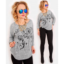 wholesale Shirts & Blouses: R61 Loose Oversize Sweater, Warm Blouse with Maki