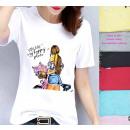 grossiste Vetement et accessoires: Femmes T-Shirt , Chemise, Happy Place, SL, 6274