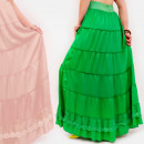 wholesale Fashion & Apparel: D1489 Romantic Skirt Maxi, Lace