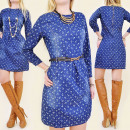 C11174 JACKET DRESS, JEANS, PATTERN IN ANCHORS