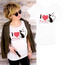 nagyker Pólók, shirt: Pamut női ing, L-2XL, I Love Cats, 5201