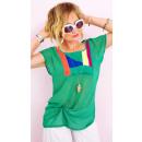 Großhandel Hemden & Blusen: A1991 Damen Bluse in Übergröße, Sorbet-Farben