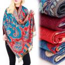 Großhandel Fashion & Accessoires: A1221 Nizza Schal, Plaid, Halstuch, Folk-Muster