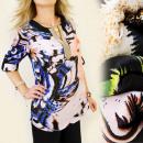 Großhandel Hemden & Blusen: BB68 LOSE TUNIKA, ÜBERGROSSE, VERZIERTE SPRUNG, MI