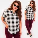 Großhandel Hemden & Blusen: C11559 Schöne Bluse, goldene Knöpfe am Ausschnitt