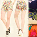 wholesale Shorts: FL482 Light  Shorts, Print - Summer Color Meadow