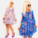 EM95 Women Dress, Valance, Roses Vintage