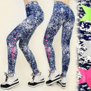 wholesale Trousers: 4093 Leggings,  FITNESS PANTS, marbling, STARS