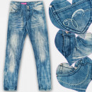 wholesale Childrens & Baby Clothing: A19210 Jeans Pants Girls, 6-14 Years, Marbled