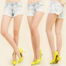 ingrosso Jeans: B16503 Short  Jeans, in stile caraibico, Fringe