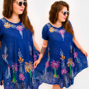 H1303 Lovely Dress, Plus Size, Tropical Island