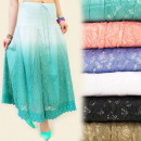 FL160 COTTON  SKIRT, MAXI  LENGTH, OMBRE, ...