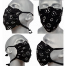 Großhandel Drogerie & Kosmetik: Schutzmaske, schwarz, Lächeln D5809