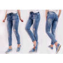 B16716 Ladies Shaded Jeans, Pants, With Holes