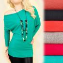 Cashmere Sweater S-XL, Loose Sleeve, Bat, 4880
