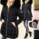 wholesale Coats & Jackets: C17393 Warm Women  Winter Jacket, Fluffy Fur