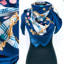 wholesale Scarves & Shawls: Winter Scarf, Scarf with Golden Leaves Pattern A12