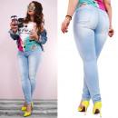 B16660 Ladies Jeans, Skinny, Large Sizes, Blue