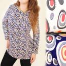 Großhandel Hemden & Blusen: BI553 Lose Hemd, Bluse, Große Größen bis zu 54