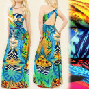 wholesale Jewelry & Watches: C1744 Tropical Dress, Exotic Pattern, Necklace